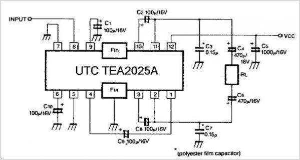 TEA2025 мостовое включение