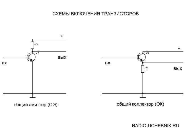 схемы включения транзистора - Практическая схемотехника.