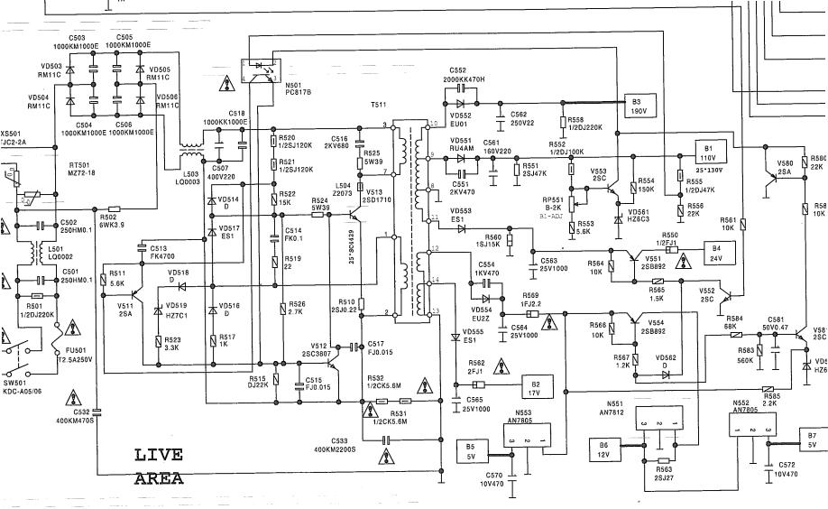 Электрическая схема на телевизор samsung ск-534ат.