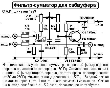фильтр для сабвуфера