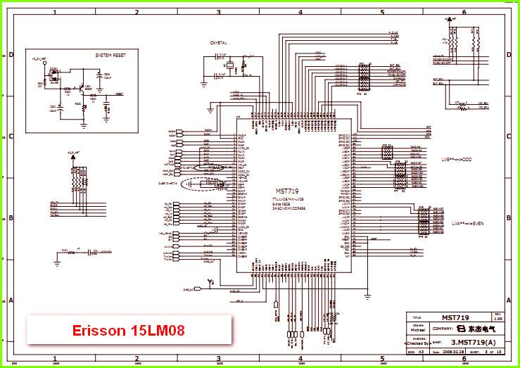 Принципиальная схема для тв erisson