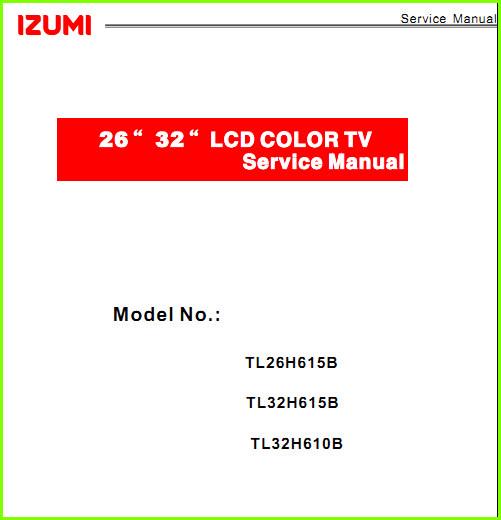 схема телевизора изуми tle22f400w