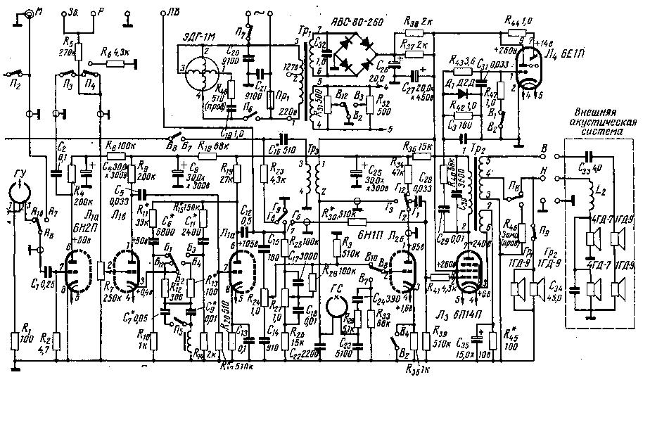 Схемы магнитофона астра