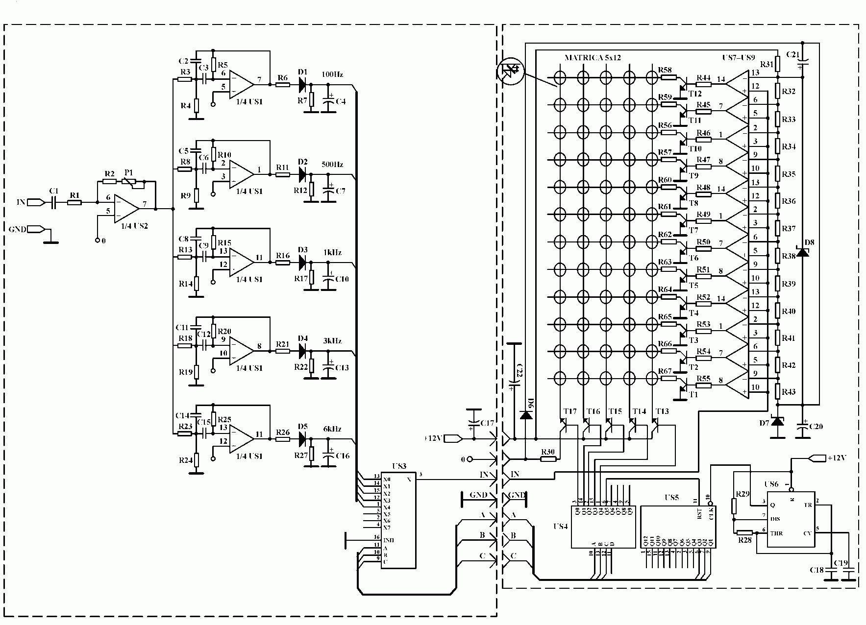 Аудио анализатор спектра схема 6 фотография