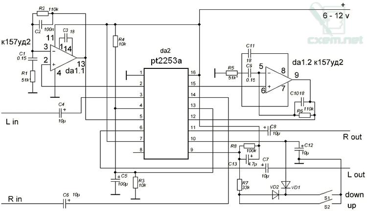 pt2253 схема включения