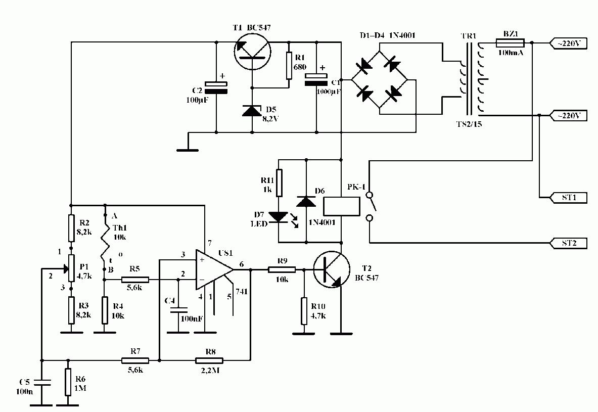 Принципиальные электрические схемы регуляторов мощности