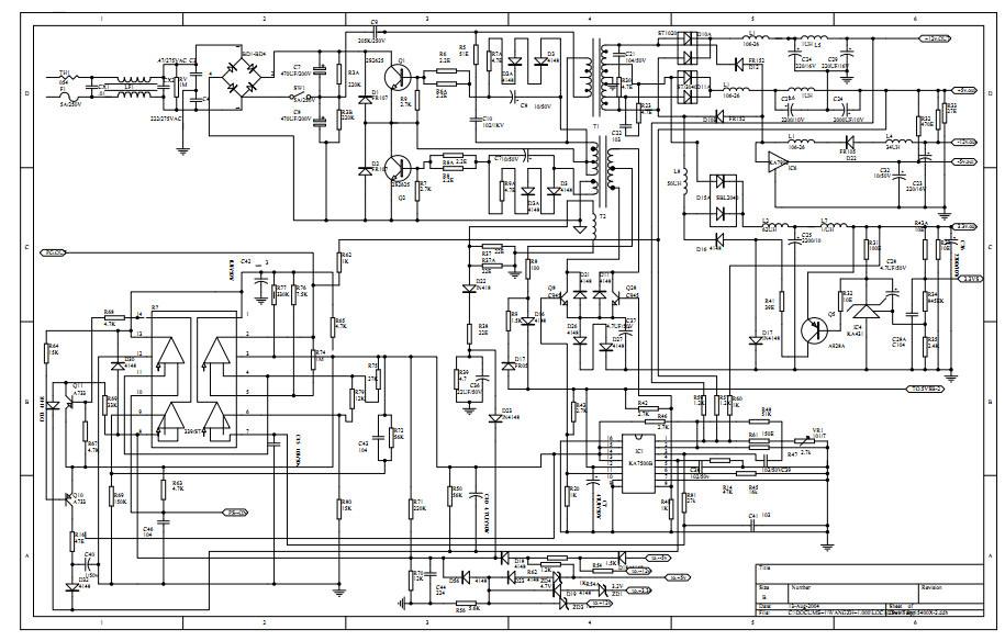 Logicpower atx 400w схема 879