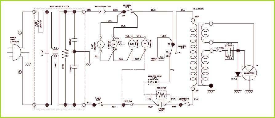 Микроволновая печь samsung схема фото 69