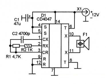 схема электронного отпугиватель грызунов