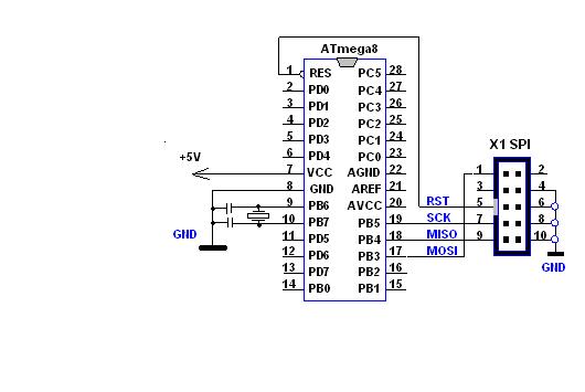 схема для прошивки ATmega8.