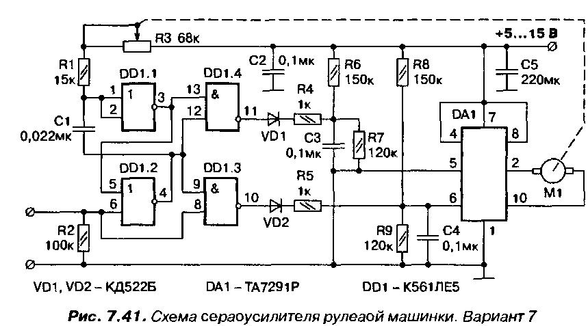 Машинка на проводном управлении схема