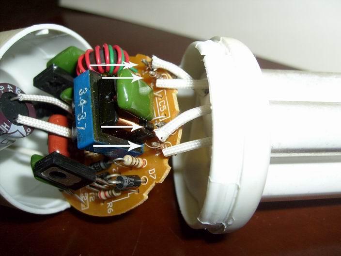 Ремонт энергосберегающей лампочки своими руками
